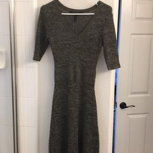 BCBGMaxAzria Dresses - Army green and gray tone sweater dress